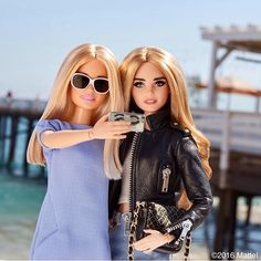 Two little Barbie's in a town