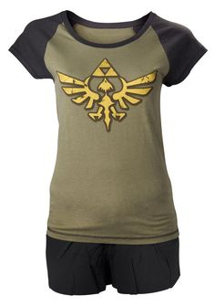 Take it easy with the Legend ofZelda Ladies Shortama Set.Just relax, lounge aroundor take a well deserved napbecause with this comfy…
