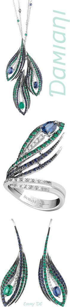Brilliant Luxury by Emmy DE * Damiani 'Peacock' Jewelry Set