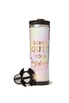tea-riffic travel mug | Typo