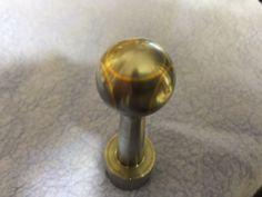 Bolt knob gold inlay