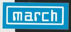 MARCH ENGINEERING F1 TEAM ORIGINAL PERIOD STICKER ADESIVO AUFKLlEBER 881 761 821 Racing Stickers, Formula 1, F1, Race Cars, Period, Decals, Engineering, March, The Originals