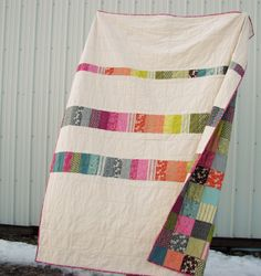 I love the backing of this quilt - more than the front! Would like to make something simple like this.