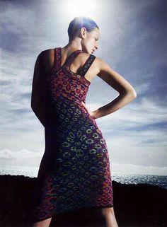 #MMissoni | Optical jacquard dress | Summer 2014 Collection | @Jane Bergstrom Goodman Magazine, Spring 2014