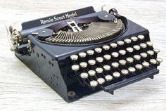 Working Remie Scout Vintage Portable Typewriter by anodyneandink, $275.00