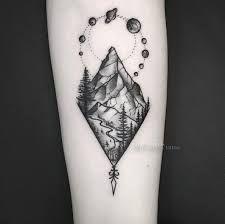 black and white rocky mountain tattoo ile ilgili görsel sonucu