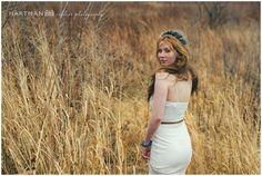 Bohemian Bride, winter wedding, flower crown, simple sleek white wedding dress, brown leather belt, boho bridal inspiration, Raleigh and Asheville North Carolina Wedding Photographer
