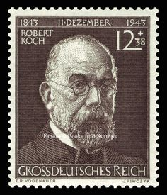 ::EBS Germany 1944 Centenary of birth of Robert Koch MNH MiNr. 864**:: in Stamps, Europe, Germany & Colonies | eBay