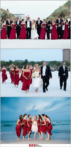 Like the colour combo, don't like the bride's dress but it is a beach wedding and I'm going for snow.