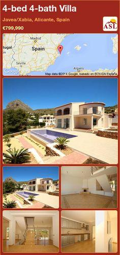 4-bed 4-bath Villa in Javea/Xabia, Alicante, Spain ►€799,990 #PropertyForSaleInSpain