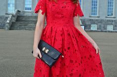 Little Red Dress & Lace Up Heels Little Red Dress, Lace Up Heels, Dress Lace, Lifestyle Blog, Short Sleeve Dresses, My Style, Outfits, Beauty, Fashion