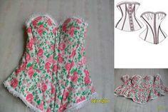 patron para hacer un corset gratis Summer Dresses, Fashion, Vestidos, Embroidery Patterns, Free Pattern, Couture, Manualidades, Clothing, Fiestas