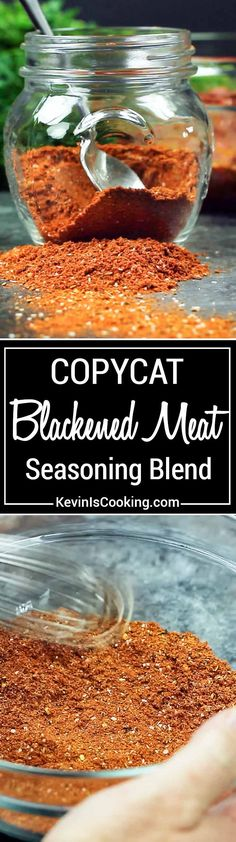 Here is my copycat version of Emeril's spicy Blackened Meat Seasoning. a fantastic blend of herb sand spices for that perfect blackened cajun meal. via @keviniscooking