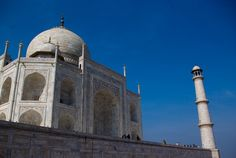 """Travel: The Taj Mahal is a white Marble mausoleum located in Agra, India. It was built by Mughal emperor Shah Jahan in memory of his third wife, Mumtaz Mahal. The Taj Mahal is widely recognized as """"the jewel of Muslim art in India and one of the universally admired masterpieces of the world's heritage."""""""