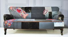 gray & brown patchwork sofa by namedesignstudio on Etsy, $2,500.00