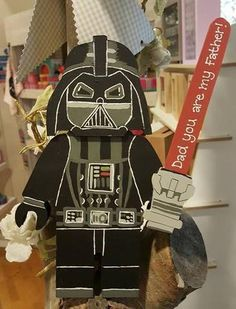 Personalised Superhero Legoman Darth Vader ideal for Father's Day. #starwars #darthvader #fathersday #personalisedgifts #oopsydaisies