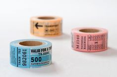 """i really like this but it is $10 per roll, you choose the color. // Mark's """"Trip Tip"""" Ticket washi"""
