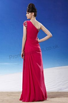 Red One-shoulder Chiffon Party Dinner Dress 2013 new fashion