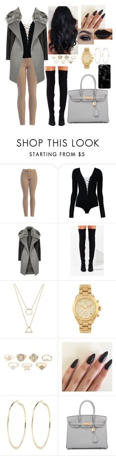 """#fallfashion #autumn #winterfashion #streetfashion #fashion"" by mrsbreezy0522 ❤ liked on Polyvore featuring T By Alexander Wang, River Island, Jeffrey Campbell, Forever 21, Michael Kors, Charlotte Russe, Hermès and Harper & Blake"