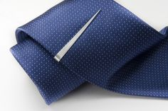 Needle sterling silver tie clip