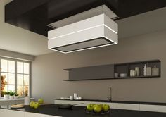 Cappa a isola / design originale / con illuminazione integrata - SKYLINE EDGE - Berbel - Video