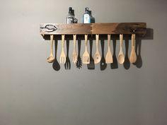 Porta cucharas de nogal