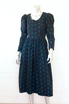 1970s Vintage Woven Cotton Black Ethnic by streeturchinvintage