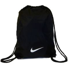 Nike Fundamental Swoosh ❤ liked on Polyvore featuring bags, sport, backpack, fitness, black nylon bag, sport bag, sport backpack, nylon drawstring bag and backpacks bags