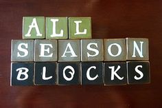 And MORE holiday word blocks - I'll be making these to replace the ones I already have!