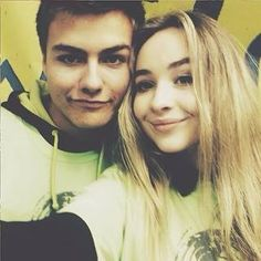 Sabrina Carpenter with Peyton Meyer.