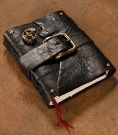 /steampunk-journal-black-leather-buckle