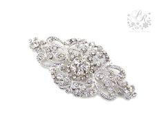 Wedding brooch Rhinestone brooch adornment, Sash Applique, Buckle, Hair comb, Clutch Bridal Jewelry