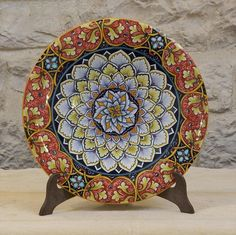 Hand-made hand painted decorative plate 17  Bright & Antique Ridgway Gilded Tulip Petal Plate c1850 - For sale on Ruby ...