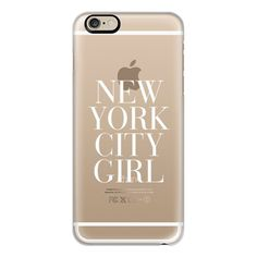 iPhone 6 Plus/6/5/5s/5c Case - New York City Girl White Vogue... (€36) ❤ liked on Polyvore featuring accessories, tech accessories, phone, electronics, iphone, iphone case, apple iphone cases, iphone cases, white iphone case and iphone cover case
