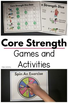 Get your hands on 6 different core strength games for kids! Your kids will LOVE these core strengthening activities and so will you! Make movement and strengthening fun when you incorporate it into games and play! Fine Motor Activities For Kids, Fun Games For Kids, Sensory Activities, Therapy Activities, Therapy Ideas, Sensory Play, Physical Therapy Exercises, Pediatric Physical Therapy, Occupational Therapist