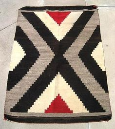 Vintage Circa 1900 Navajo American Indian Rug - Vintage and Antique Rugs on Ruby Lane #RubyLane