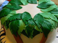 The Cake Class: Palm Trees Tutorial - Zebra Monkey Cake - Day 2