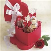Mrs. Prindable's Gourmet Apples In Heart Shaped Gift Box