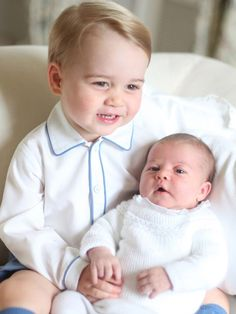 A smile: George and Charlotte look content together