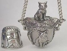 Pewter Sewing - Silver Thimble Gifts
