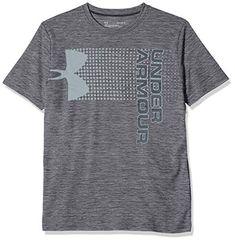 Under armour UA boys select t shirt poly charcoal grey black LY L BOYS kids