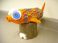 One Crayola Short: Paper Mache Fish Recycled Art Projects, 3d Projects, Recycled Materials, School Projects, Project Ideas, Craft Ideas, Tapas, Paper Mache Clay, Fish Sculpture