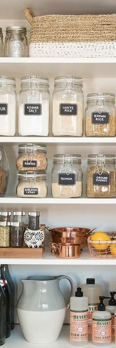 3 secret weapons and ideas for pretty kitchen pantry organization. This beautifully organized pantry is so inspiring! Whether you have an entire pantry or just a kitchen cabinet, these photos highligh (Ingredients Art Kitchens)
