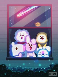 Image shared by 𝒞𝐿⁷. Find images and videos about bts, van and chimmy on We Heart It - the app to get lost in what you love. Bts Chibi, Rap Monster, Yoonmin, Taemin, Fanart Bts, Les Bts, K Wallpaper, Kawaii Wallpaper, Never Be Alone