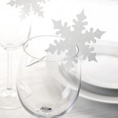 Snowflake Placecards | Christmas Table Decorations | Partyt