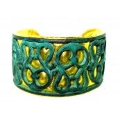 24K Gold and Bronze Cuff Bracelet by GURHAN