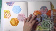 Art Journal Process Gelli Minis and Stamping