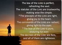 """February 22 - Psalm 19:7-9  """"The Law of the Lord Is Perfect"""""""