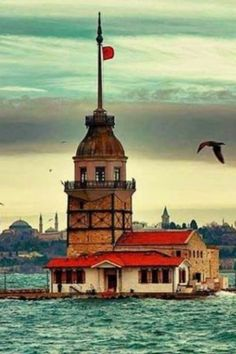 Istanbul City, Hagia Sophia, Turkey Travel, Science And Nature, Old Town, Wonderful Places, Landscape Paintings, Lighthouse, Travel Inspiration