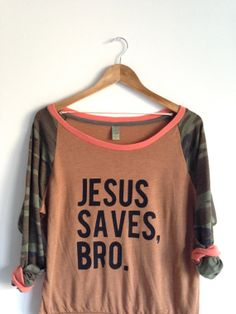 Jesus+Saves+Bro+.+Slouchy+Pullover+by+greythread+on+Etsy,+$44.00